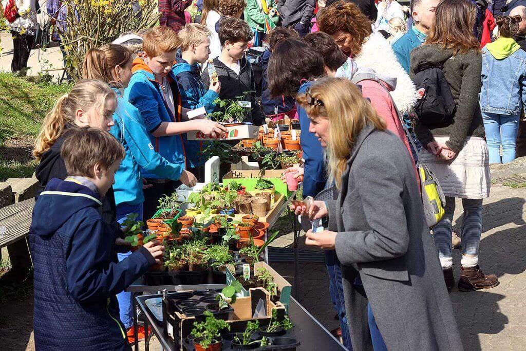 Frühlingsfest mit Pflanzenmarkt an der Blote Vogel Schule Witten. Feste sind fester Bestandteil unserer gelebten Gemeinschaft.